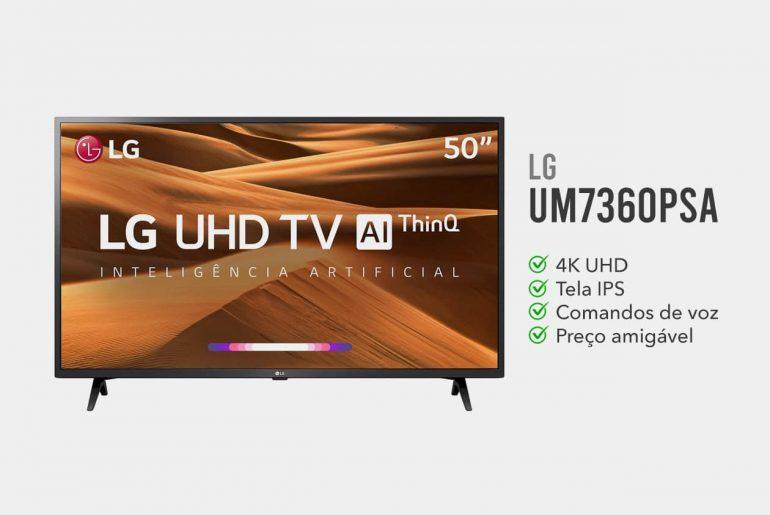 TV LG 50UM7360PSA é Boa